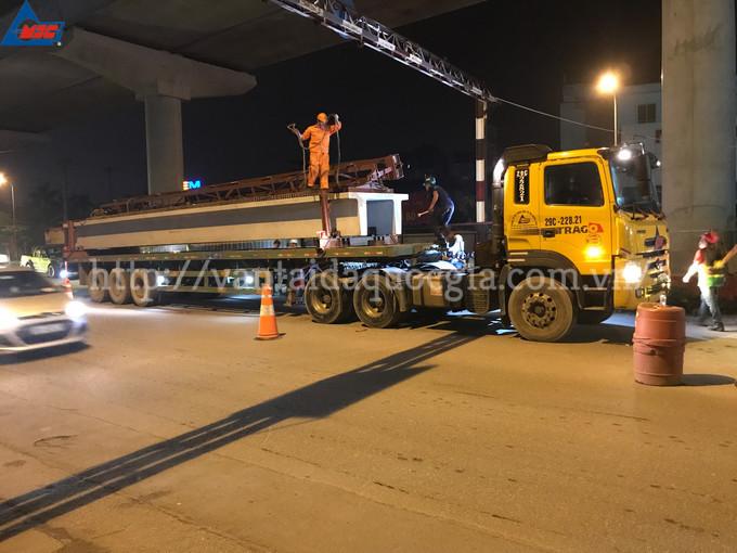 Vận chuyển, lao lắp dầm T đôi tuyến đường sắt trên cao số 3 (Nhổn - Ga Hà Nội)