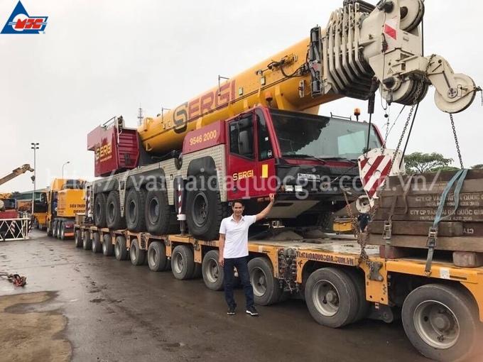 MJCT vận chuyển hàng vạn máy xây dựng, thiết bị phục vụ thi công qua mỗi năm.