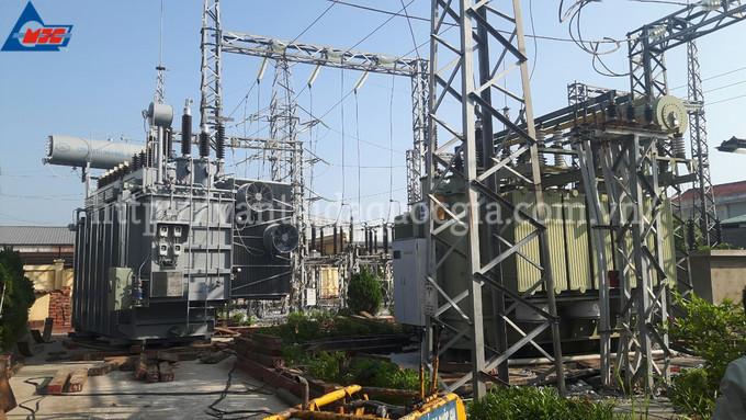Vận chuyển, kích kéo, nâng hạ, di chuyển và đảo máy biến áp 40MVA và máy biến áp 63MVA -110kV của trạm 110kV Thái Bình.
